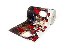 Idea Regalo - BIANCHERIAWEB Tappeto Passatoia Antiscivolo con Stampa Digitale Dis. Elfo Natale 50x90 Neve