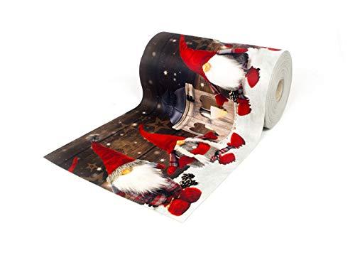 Biancheriaweb tappeto passatoia antiscivolo con stampa digitale dis. elfo natale 50x180 neve
