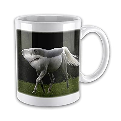 15oz Shark-Horse Hybrid Weird/Funny Novelty Gift Mug