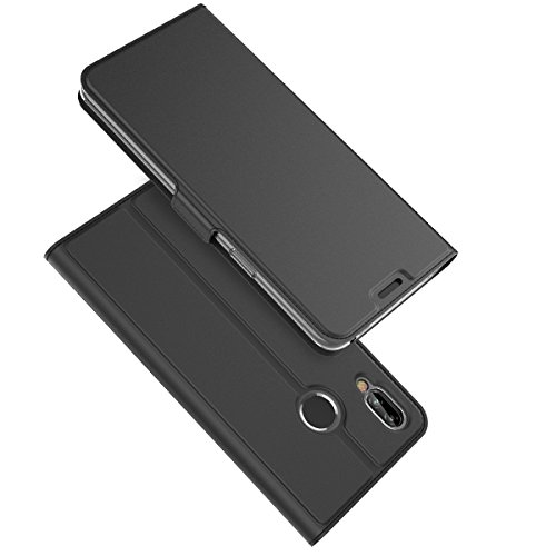 ChainPlus Vivo NEX A Wallet Case, Stylish Slim PU Leather Durable Stand and Card Holders Wallet Phone Cover Backcover Protective Case for Vivo NEX A -Black (Switch Light Custom)