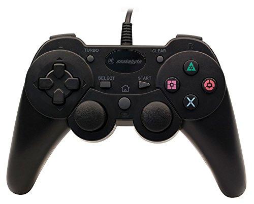 Snakebyte Manette Filaire Noire pour PS3 wired Con – Télécommande Filaire – longueur de câble 2 m