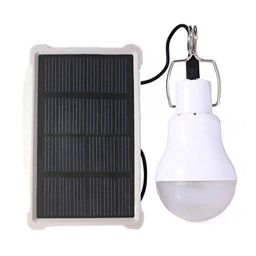 Prodeli Solarleuchten LED Lampe Upgrades tragbare 150LM 1600mA Batterie Solarleuchte für den Außenbereich Wandern Lesen Zelt Angeln Beleuchtung