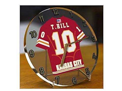 NFL National Football League Desktop Uhren–AFC West American Football Jersey Uhren–Jeder Name, beliebige, jedes Team KANSAS CITY CHIEFS