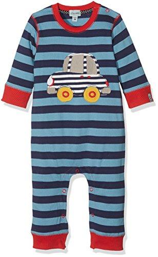 Lilly and Sid Baby-Jungen Bekleidungsset Applique Stripe Playsuit- Car Blau (Blue 001), 6-12 Monate - 10 Applique