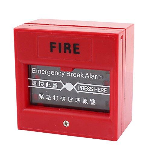 220V 10A Rosso plastica di copertura di emergenza Vetro antincendio