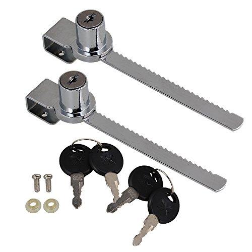 BQLZR Schublade Kabinett Schaufenster Schaukasten Schiebetür Schloss Gleich- Offen 2 Schlüssel für jedes Set
