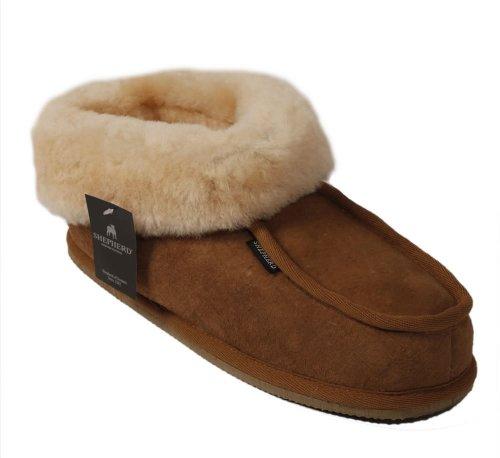 Shepherd ( Wassbring ) Chaussons en mouton retourné style « bottines » pour femme - Marron