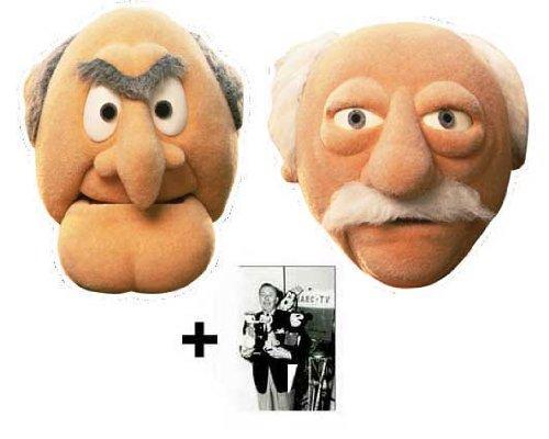 Statler und Waldor card Karte Partei Gesichtsmasken (Maske) Packung von 2 (The Muppets)