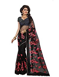 Future India Net Embroidery Work Saree With Blouse Piece For Women's(1199_Free Size)