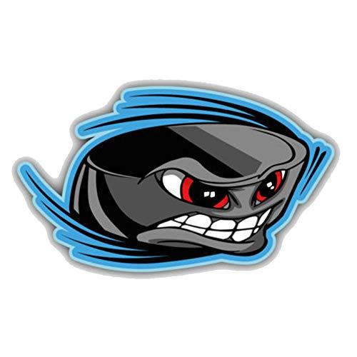 Auto-Aufkleber 12,7 cm * 7,5 cm Cartoon Eishockey Puck Gesicht PVC Fenster Auto Aufkleber
