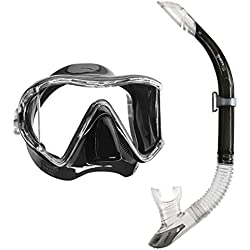 Mares i3 masque de plongée à mono-sailor tuba Noir