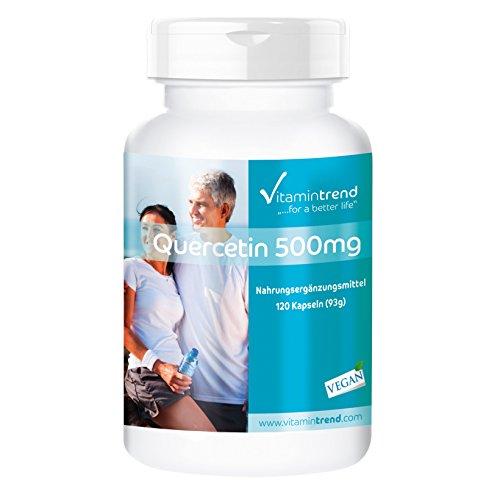 Quercetina 500mg – ¡Bote para 4 MESES! - 120 cápsulas – vegana – altamente dosificada - apoyo a la próstata