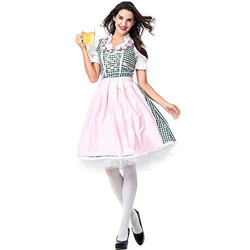 Shishiboss Halloween-Kostüme für Erwachsene Oktoberfest Beer Girl Bar Kellnerin Kostüme mit Schürze Geeignet für Halloween-Partys und - Deutsche Bar Girl Kostüm