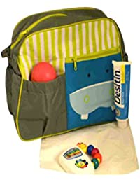 Home Hacks Green/Grey Mama's Bag, Baby Carrier Bag, Diaper Bag, Travelling Bag With Changing Mat