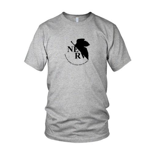 Planet Nerd - Neon Genesis Evangelion - Nerv Logo - Herren T-Shirt  Graumeliert