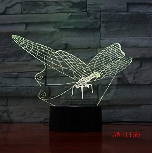 Joplc Schmetterling LED 3D Nachtlicht Schreibtisch Tischlampe Taschenlampe USB Controller Spielzeug Kinder Geschenk