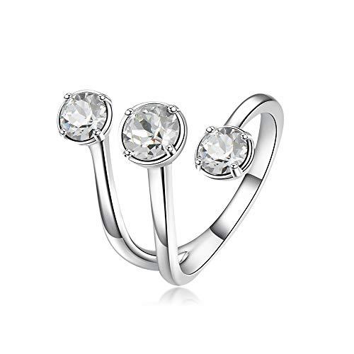 Brosway anello donna in ottone rodiato con swarovski, linea affinity, taglia 14, 5 grammi
