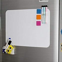 Tableau magnétique A3 Tableau blanc Réfrigérateur Tableau blanc Planificateur hebdomadaire pour cuisine Liste de magasinage Mémo Avis Tableau de repas Menu Planificateur quotidien Enfants Graffiti