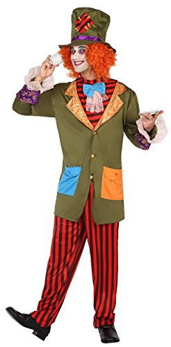 Hutmacher Der Kostüm - ATOSA 38655 Hutmacher Kostüm, Herren, mehrfarbig, XL
