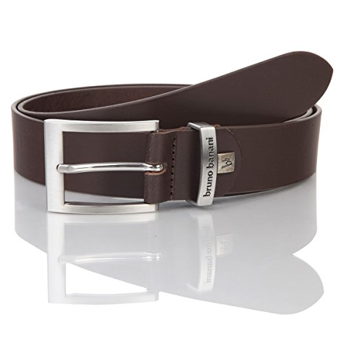 Ledergürtel Herren / Gürtel Herren Bruno Banani, Rindleder dunkelbraun, 30012, Größe / Size:100;Farbe / Color:braun (Leder Brown Color)