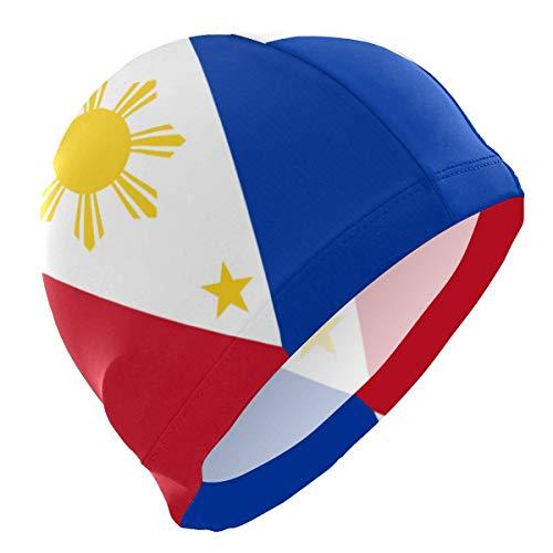 SFHJK Swim Caps Badekappe Philippine Flag Proud Lycra Swim Cap Swimming for Women Men