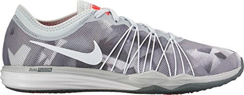 Nike W Dual Fusion Tr Hit Prnt, Scarpe Sportive Indoor Donna Grigio (Pure Platinum/white/cool Grey)