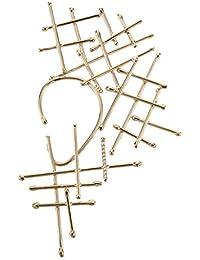 Noritamy Orecchini da Unisex Placcato Oro Zirconia Cubica Trasparente Rotondo