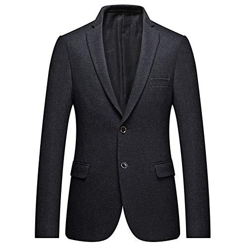 WYX Herren Business-Blazer Beiläufige Kerbe Revers Zwei-Knopf-Sport-Mantel-Formale Blazer Jacke Plus Size,a,7XL