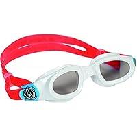 Aquasphere Badeanzug Moby Eye Wear Schwimmer Kinder Schwimmbrille, Rot/Weiß, 175.540)