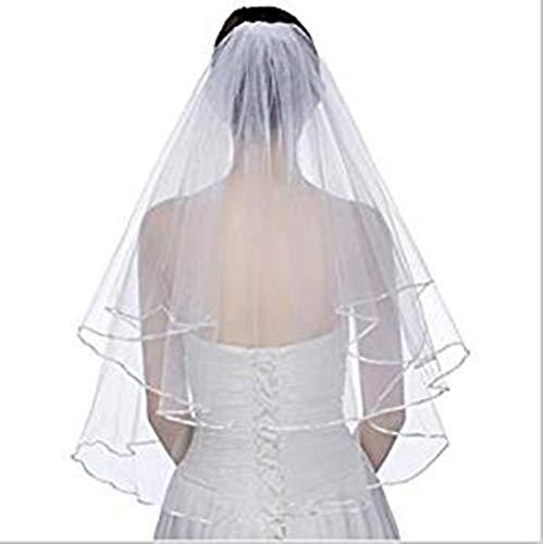 Distinct® Elegante 2 Capas Longitud Codo Blanco Satin