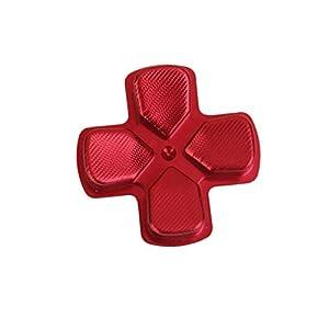 Metall Ersatz D-PAD Taste für PlayStation 4 PS4 Regler Rot