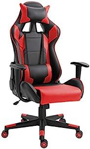 Mahmayi C599_RED Gaming Chair High Back Computer Chair PU Leather Desk Chair PC Racing Executive Ergonomic Adj