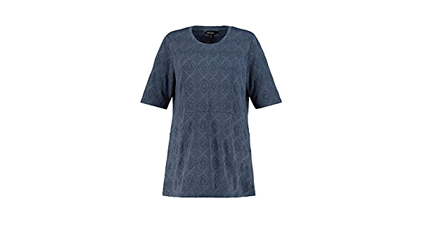 col Tendance Ulla Popken Femme Grandes Tailles Sweat-Shirt Poches 749500 Cordon
