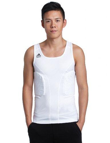 adidas Techfit Padded Top Compression Shirt Basketball Tank weiß gepolstert XXL (Gepolsterte Shirt Basketball)