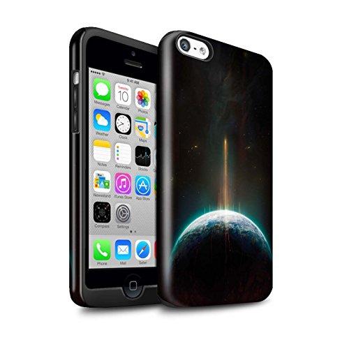 Offiziell Chris Cold Hülle / Glanz Harten Stoßfest Case für Apple iPhone 5C / Schwarzes Loch Muster / Galaktische Welt Kollektion Phönix/Raumzeit