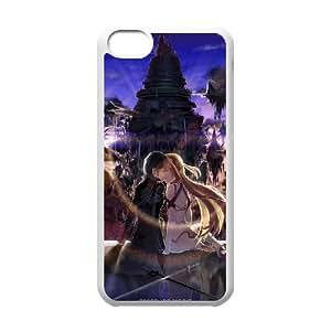Asuna And Kirito Sword Art Online coque iPhone 5C Housse Blanc téléphone portable couverture de cas coque EBDOBCKCO14742