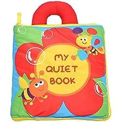 Questionno Soft Cotton, Polyester Filling Cloth Babies Development Activity Books Flower Style (18.5x23.5 cm)