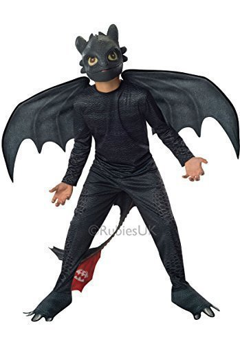 Kinder Nacht Fury Outfit Toothless Rubine Offizielle Train Your Dragon 2 Kostüm - translation, original, 5-7 Jahre M, (Outfit Drachen)