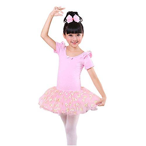 Bequemes Gymnastik-Trikotanzug Ballett Ballettröckchen Ballerina Tanz Kostüme, D