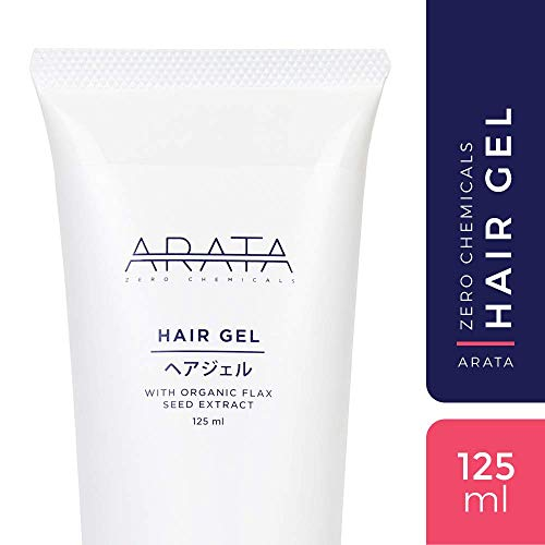 Arata Zero Chemicals Natural Hair Gel with Flax Seed Extract, 125 ml