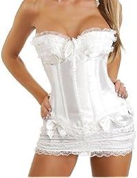 Dissa mode Corset en dentelle détaillée,Blanc
