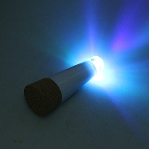 Flameer luce notturna per lampada da tavolo a led in metallo con tappo in sughero - blu