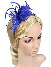 dressfan Fasce per le donne Palazzo Ladies Party Banchetto Prom Mesh Fascia  Hairband Copricapo Fascinator Retro 3b438a4aa824