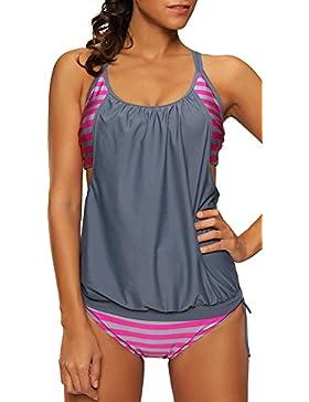 Bettydom donna colpito il colore Moda Costume Bikini Sets Multicolore Tankinis