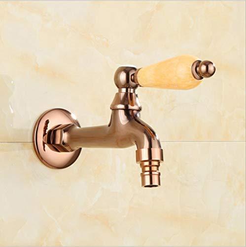 wffmx Moderne Einfache Verchromte Europäische Natürliche Jade Rose Gold Kupfer Waschmaschine Wasserhahn Mopp Pool Schnelle Wasserdüse Einzigen Kalten Kleinen Wasserhahn (Badewanne Wasserdüsen)