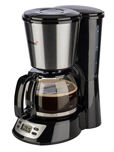 Korona 12113 Edelstahl Kaffeemaschine mit Timer Funktion - Filter Kaffeeautomat für 6 Tassen mit  Glaskanne