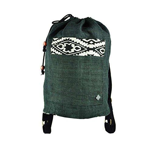 Mochila y bolsa de hombro virblatt, 100 % cáñamo decorada con patrones étnicos asiáticos tejidos a mano como ropa alternativa – Abenteuerlich