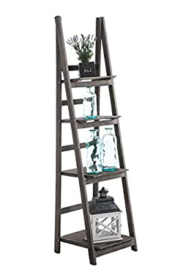 CLP Wooden Ladder Shelf / Flower Rack ALMA, 4-Tier, 150x40x40 cm, foldable, choose from up to 6 colours
