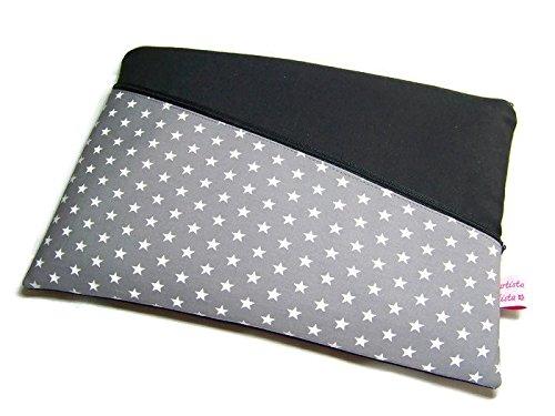 Tablet Netbook Notebook Tasche Star grau mit Außenfach, Maßanfertigung