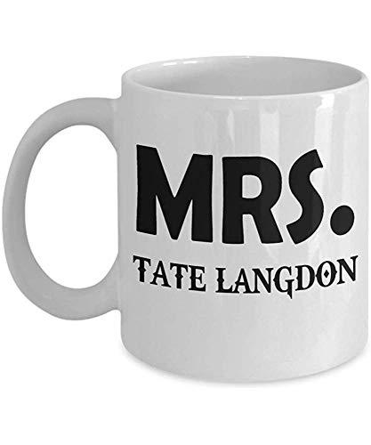 Sra. Tate Langdon American Horror Story Taza de café, Divertido, Taza, Té, Regalo para Navidad, Día del padre, Navidad, Papá, Aniversario, Día de la madre, Papá, Escucha 11 oz